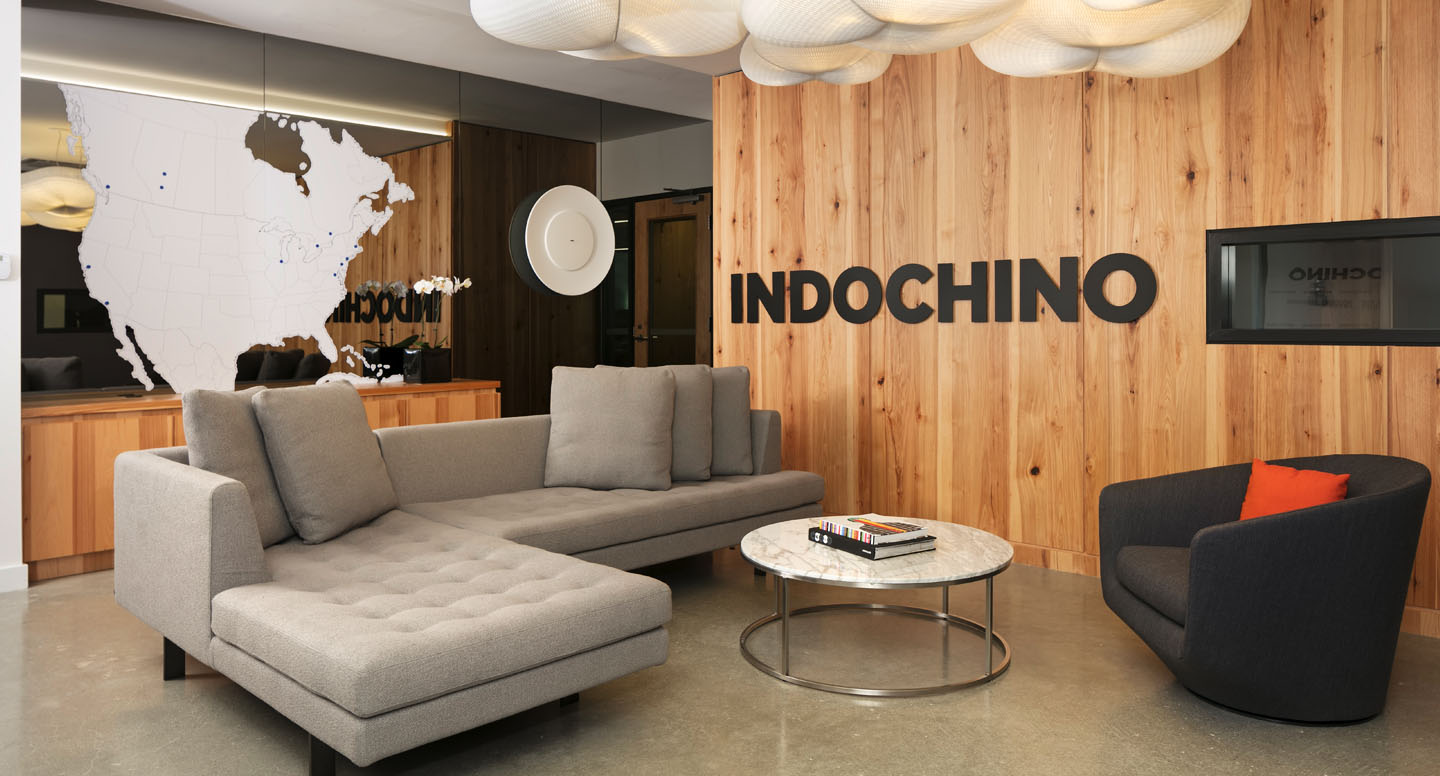 View of the main foyer upon entering INDOCHINO head quarters.