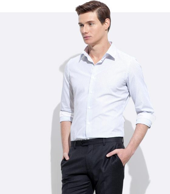 An INDOCHINO custom shirt with white trim.