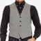 Classic Black and White Houndstooth Vest1