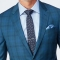 Teal Tonal Plaid Wool Stretch Suit2